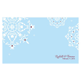 Winter Romance Wedding Reception Escort Table Sign Card