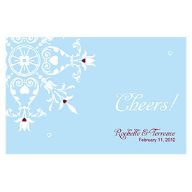 Winter Romance Large Wedding Drink Ticket
