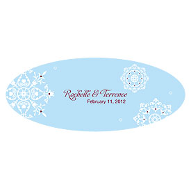 Winter Romance Large Wedding Window Cling
