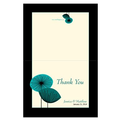 Romantic Elegance Wedding Thank You Card