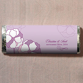 Pinwheel Poppy Chocolate Bar Wedding Favor