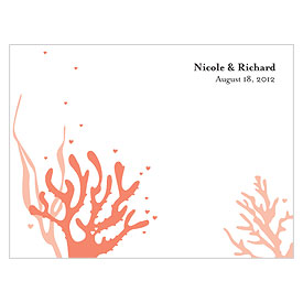 Coral Reef Note Wedding Card