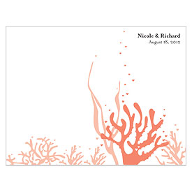 Coral Reef wedding stationery Bulletin