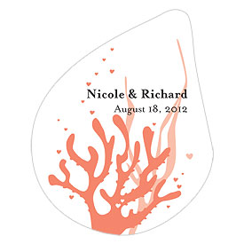 Coral Reef Small Wedding Window Cling