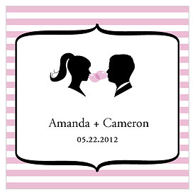 Sweet Silhouettes Square favor Tag