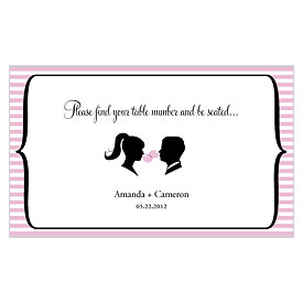 Sweet Silhouettes Wedding Escort Table Sign Card