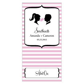 Sweet Silhouettes Small Wedding Drink Ticket