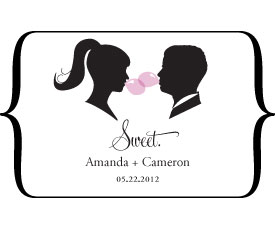 Sweet Silhouettes Large Wedding Window Cling