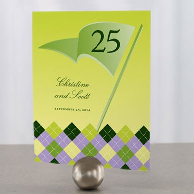 Golf Wedding Table Numbers