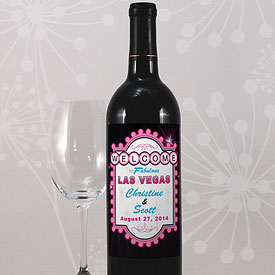 Las Vegas Wine Label
