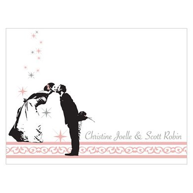 Vintage Hollywood Wedding Note Card