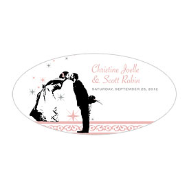 Vintage Hollywood Small Wedding Window Cling