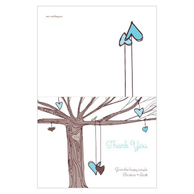Heart Strings Wedding Thank You Card