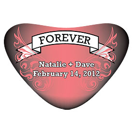 Forever Tattoo Heart Wedding Favor Container Sticker