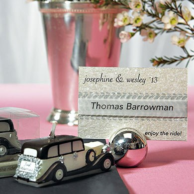 Vehicle Tracks Wedding Favor Card