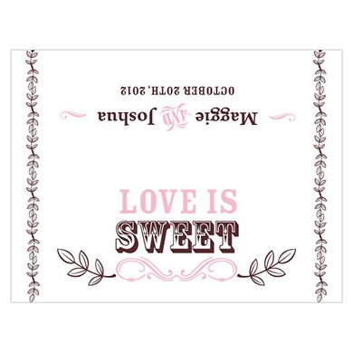 love is sweet wedding cone header stationery