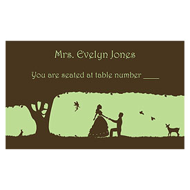 Fairytale Charm Wedding Escort Table Sign Card