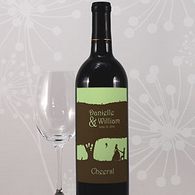 Fairytale Charm Wedding Wine Bottle Label