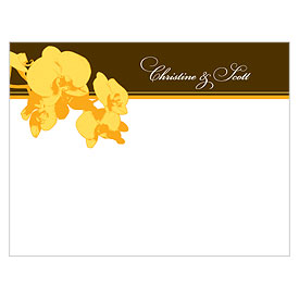 Orchid Glamour Wedding Note Card