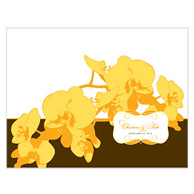 Orchid Glamour Wedding Bulletin