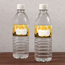 Orchid Glamour Wedding Water Bottle Wrap