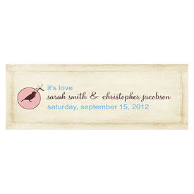 Whimsical Garden Small Rectangular Wedding Favor Tag