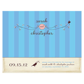 Whimsical Garden Wedding Save The Date Card