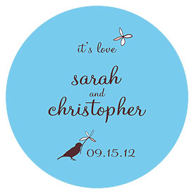Whimsical Garden Large Wedding Favor Sticker