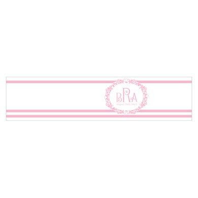 Rococo Monogram Wedding Favor Box Wrap