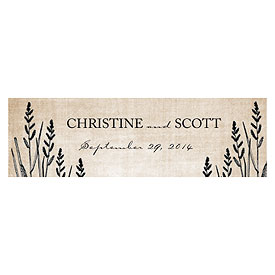 Rustic Country  Wedding Small Rectangular Tag