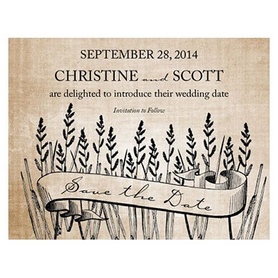 Rustic Country Wedding Save The Date Card