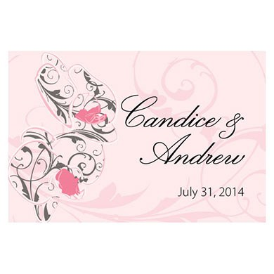 Classic Orchid Large Rectangular Wedding Tag