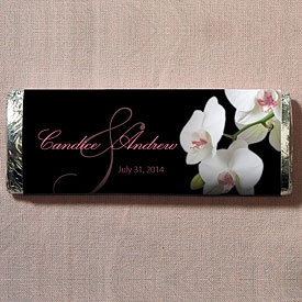 Classic Orchid Nut Free Gourmet Wedding Milk Chocolate Bar