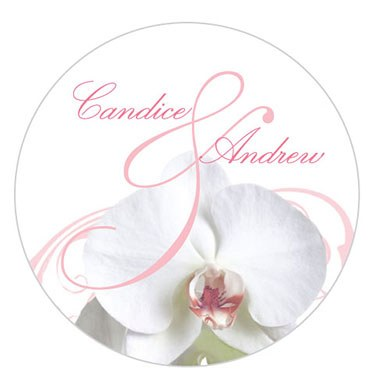 Classic Orchid Small Wedding Sticker