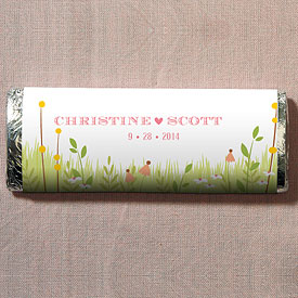 Homespun Charm Chocolate Bar Wedding Favor