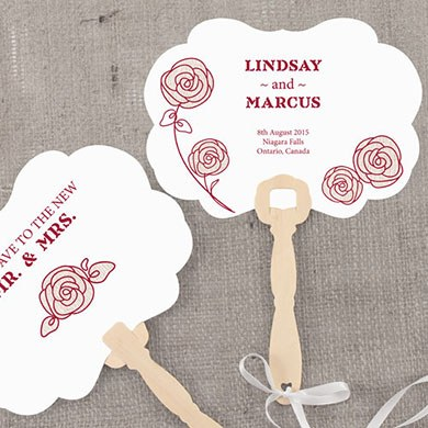 Rose Hand Fan Wedding Favor