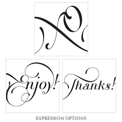 Expressions Wedding Square Tag