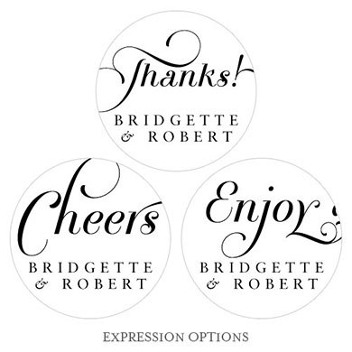 Expressions Wedding Small Sticker