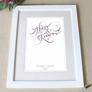 Expressions Personalized Signature Wedding Certificate