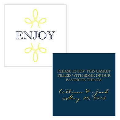Enjoy Thank you Wedding Square Card