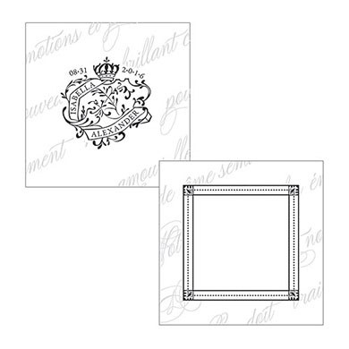 Parisian Love Letter Wedding Square Tag