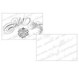 Parisian Love Letter Wedding Large Ticket