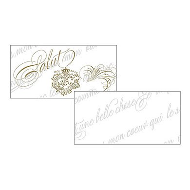 Parisian Love Letter Wedding Small Ticket