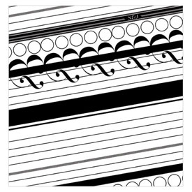 Black White Envelope Liner