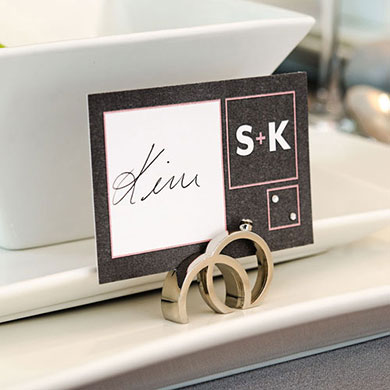Times Square Wedding Large Rectangular Tag