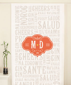 Vineyard Personalized Wedding Photo Booth Backdrop