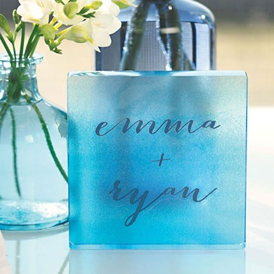 Aqueous Wedding Acrylic Tile