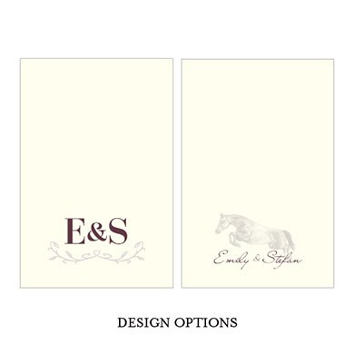 Equestrian Love Wedding Large Rectangular Tag