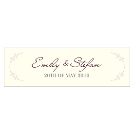 Equestrian Love Wedding Small Rectangular Tag