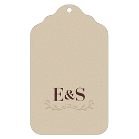 Equestrian Love Wedding Diecut Merchandise Tag